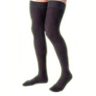 Jobst women's opaque thigh-high 15-20mmHg moderate stocking, closed toe, medium,classic black