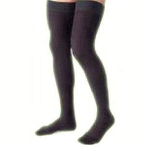 Jobst women's opaque thigh-high 15-20mmHg moderate stocking, closed toe, X-large,classic black