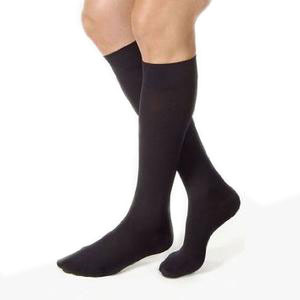 Jobst women's opaque knee-high 15-20mmHg moderate stocking,closed toe,Xl petite,classic black