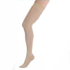 Jobst women's opaque thigh-high 20-30mmHg firm stocking, closed toe, large, petite, natural