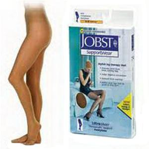 Jobst women's UltraSheer SupportWear mild compression pantyhose, closed toe, small, beige- Pair