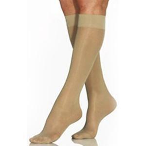Jobst women UltraSheer knee-high 15-20mmHg moderate stocking,close toe,large,full calf,natural