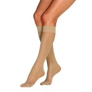 Jobst women's UltraSheer knee-high 15-20mmHg moderate stocking,closed toe,xl,full calf,natural