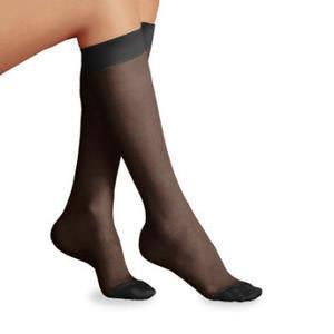 Jobst women's UltraSheer knee-high 20-30mmHg firm stocking, closed toe,large,full calf, black