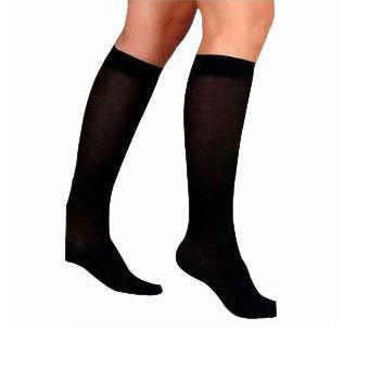 Jobst women's UltraSheer knee-high 20-30mmHg firm stocking, closed toe, XL, full calf, black