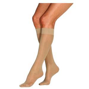 Jobst women's UltraSheer knee-high 30-40mmHg extra firm stocking, closed toe,medium sun bronze-Pair