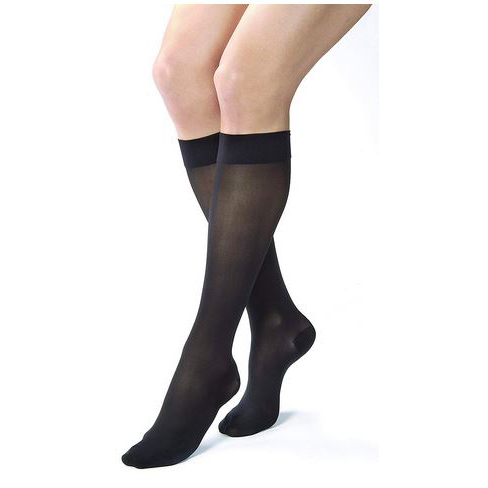Jobst women's UltraSheer SupportWear knee-high mild stocking, closed toe, small classic black