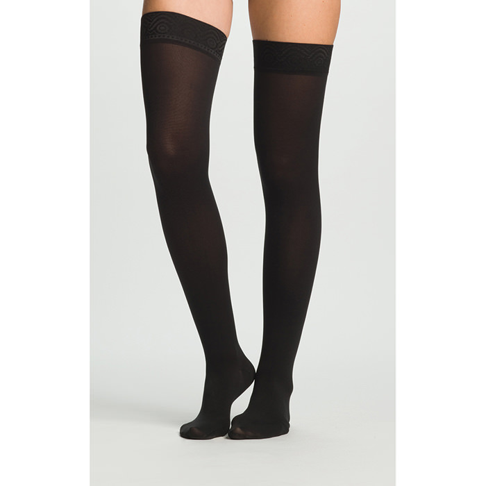 Jobst women's UltraSheer thigh-high stocking, closed toe, medium, classic black