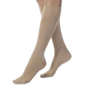 Jobst women's UltraSheer knee-high 20-30mmHg firm stocking, closed toe, large, honey