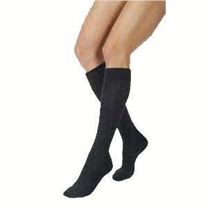 Jobst women's UltraSheer knee-high 20-30mmHg firm stocking,closed toe,petite,xl,classic black