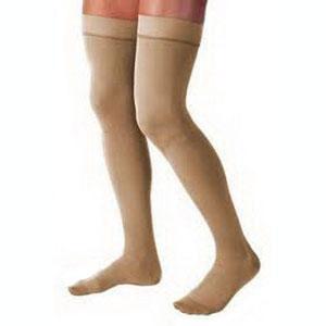 Jobst women's UltraSheer thigh-high 15-20mmHgstocking, closed toe, X-large, natural, petite