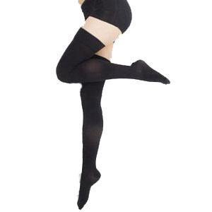 Jobst women's UltraSheer thigh-high 20-30mmHg stocking,closed toe,medium,petite,classic black