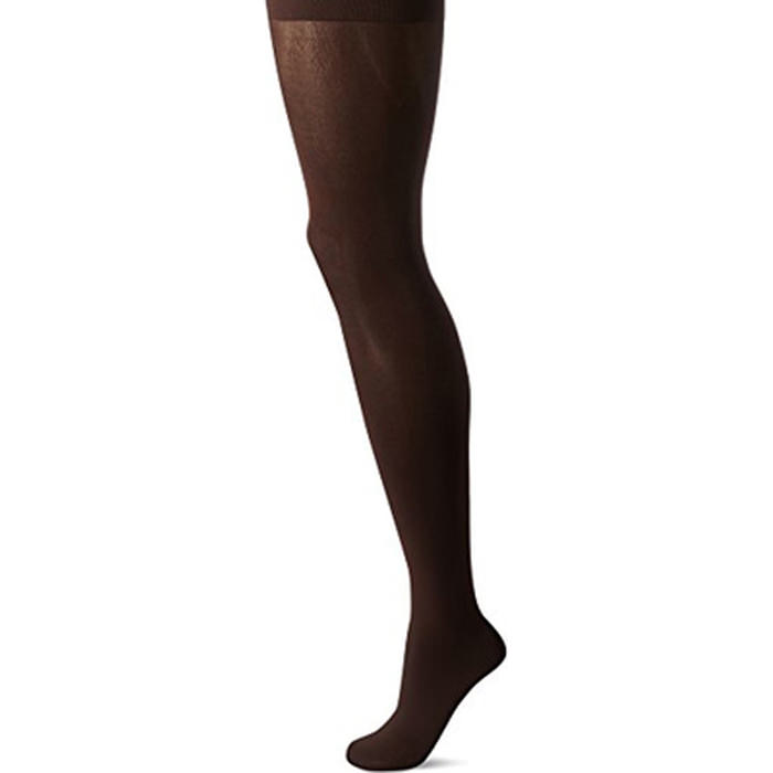 Jobst women's thigh-high firm stockings with silicone strip, closed toe, large, espresso