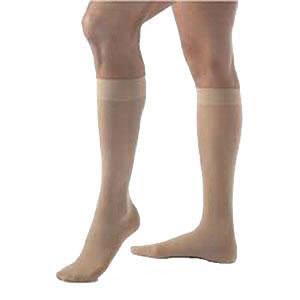 Jobst women's UltraSheer knee-high 20-30mmHg firm stocking, open toe, small natural