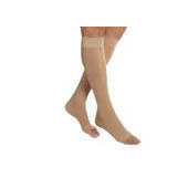 Jobst women's UltraSheer knee-high 20-30mmHg compression stockings, open toe, xl, natural
