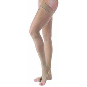 Jobst women's UltraSheer thigh-high 15-20mmHg stocking, medium size, natural