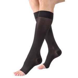 Jobst women's UltraSheer knee-high 20-30mmHg firm stocking, open toe, medium, petite, black