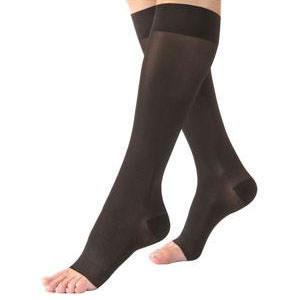Jobst women's UltraSheer knee-high 20-30mmHg firm stocking, open toe, large, petite, black
