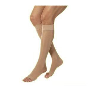 Jobst women's UltraSheer knee-high 20-30mmHg firm stocking, open toe, large, petite, natural