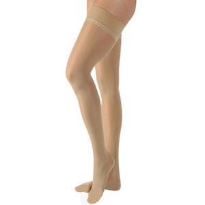 Jobst women's UltraSheer thigh-high 20-30mmHg firm stocking, medium, petite, natural