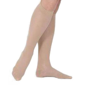 Jobst women's Soft knee-high 20-30mmHg moderate stocking, closed toe, X-large, sand ribbed