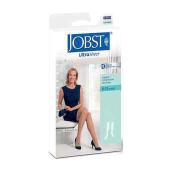Jobst women's UltraSheer knee-high 30-40mmHg extra firm stocking, closed toe, X-large,natural