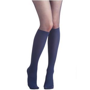 Jobst women's UltraSheer knee-high 20-30mmHg firm stocking, closed toe, medium midnight navy- Pair