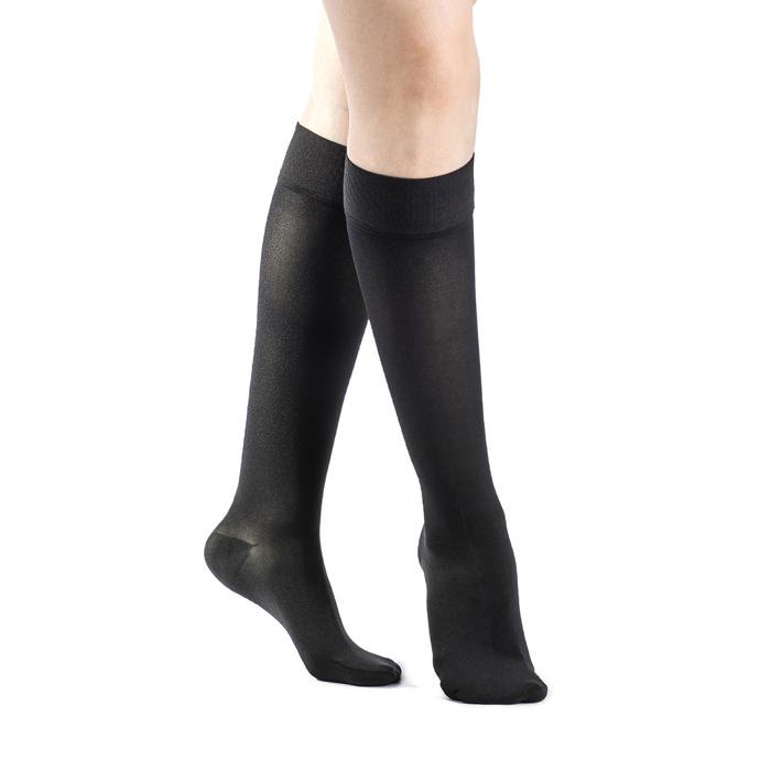 Jobst women's UltraSheer knee-high 20-30mmHg firm stocking, closed toe, large, midnight navy