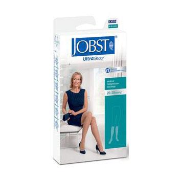 Jobst women's UltraSheer knee-high 20-30mmHg firm stocking, closed toe, large, suntan