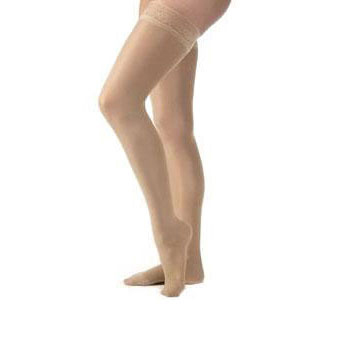 Jobst women's UltraSheer thigh-high 30-40mmHg extra firm stocking, closed toe X-large natural