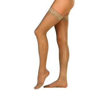 Jobst women's UltraSheer thigh-high 30-40mmHg extra firm stocking, closed toe, X-large suntan