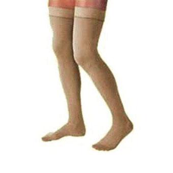 Jobst women's UltraSheer thigh-high 15-20mmHg moderate Stocking, Closed toe, Medium natural