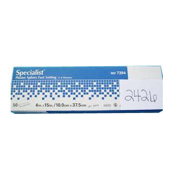 "Specialist Extra-Fast Plaster Splints 4"" x 15"", Blue Label"