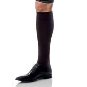 Jobst Ambition knee-high 20-30mmHg firm stockings, closed toe, long, size 5, black ribbed