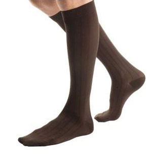 Jobst Ambition men's knee-high 30-40mmHg extra firm socks closed toe,size 4 reg, brown ribbed