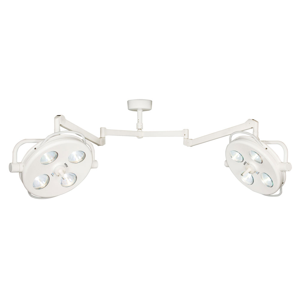 Burton APEX 8' Surgical Light with Double Ceiling Mount, 230V