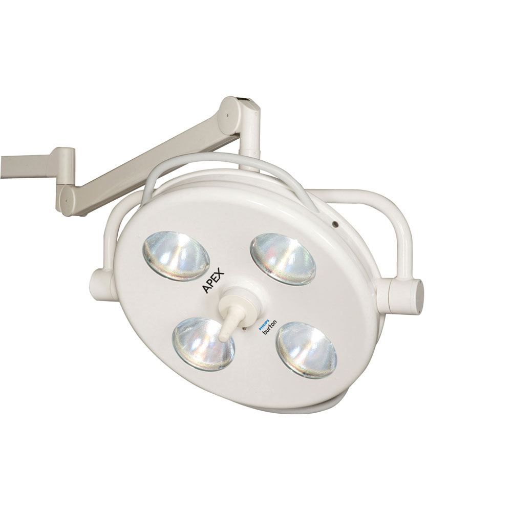 Burton APEX 8' Surgical Light with Single Ceiling Mount, 230V