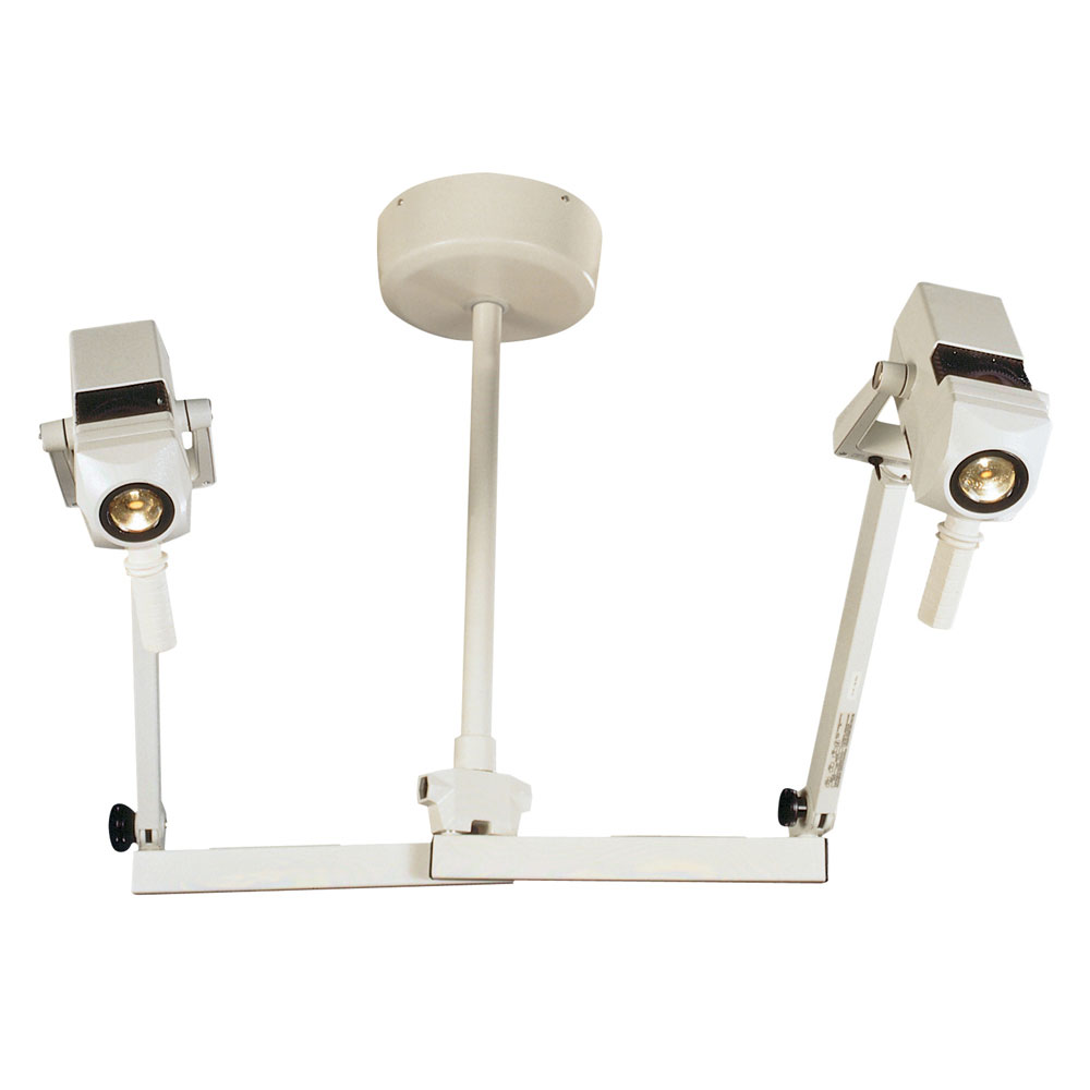 Burton CoolSpot II Exam Light with Double Ceiling Mount, 120V