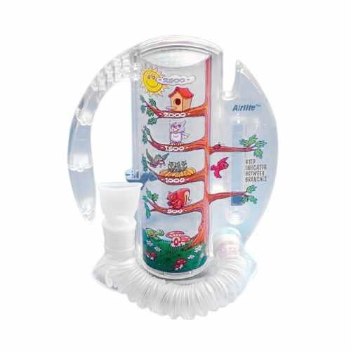 Carefusion Airlife Pediatric Volumetric Incentive Spirometer with One-Way Valve, 2500ml