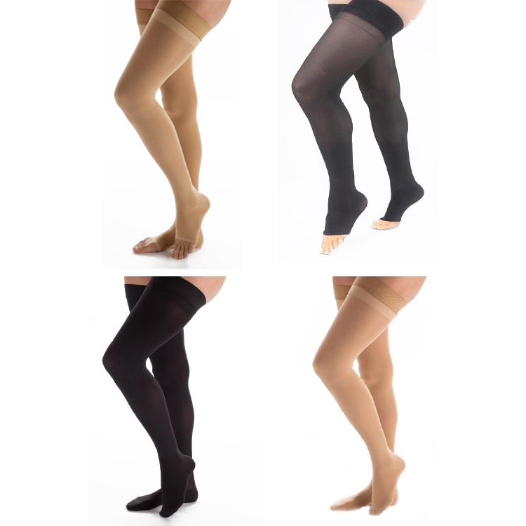 Carolon Health Support Sheer Full Thigh Length Compression Stockings