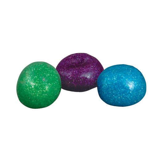 "CanDo Glitter Bead Ball 4"" x 4"" x 4"" 2.5"" Diameter Set of 3"