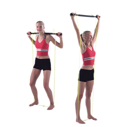 CanDo Padded Exercise Bar With Tubing unweighted