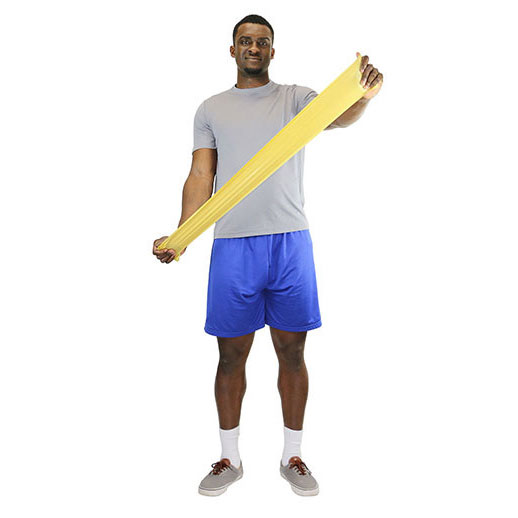 Cando Low Powder Exercise Band With 2X-Light Resistant, Tan