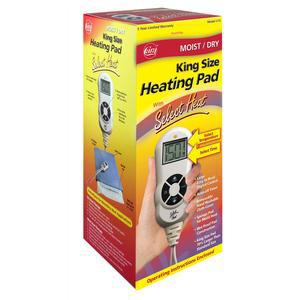 "Cara LCD Select Heat Moist/Dry Heating Pad, 12"" x 14"""