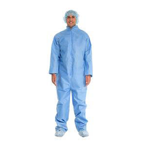 Cardinal Health Coverall with Open Cuff and Ankle Universal Blue