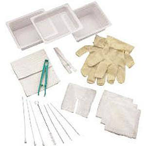 Carefusion Complete Tracheostomy Cleaning Tray without Gloves, Sterile