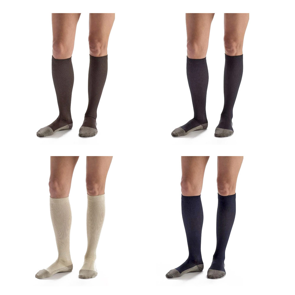 Carolon Compression Dress Socks with Anti-Microbical Silver