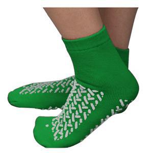Cardinal Double Tread Patient Footwear, Exterior Terrycloth, 2XL, Green