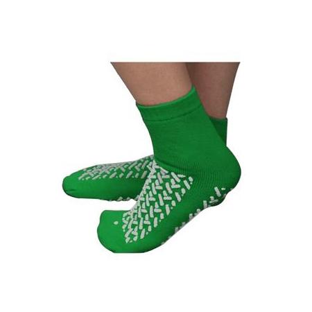 Cardinal Double Tread Patient Footwear, Interior Terrycloth, 2XL, Green