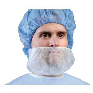 Cardinal Surgical Beard Cover, Full Coverage, White